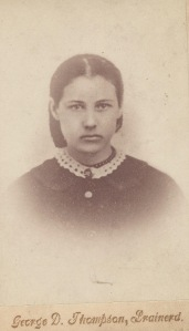 Louisa Webster Fulton, age 16. Copy made in Minnesota from original?